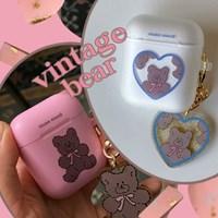 [뮤즈무드] vintage bear airpods case (에어팟케이스)