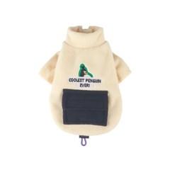 [monchouchou] Alaska Crew Pocket Fleece Jacket_Clean Ivory