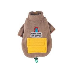 [monchouchou] Alaska Crew Pocket Fleece Jacket_Woody Beige