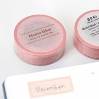 Memo Label Masking Tape - Cocoa Pink