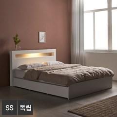 AND 화이트 머스크 LED조명 SS 침대+독립매트 DM7003