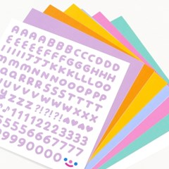 On graphic. RiCO FONT sticker - pastel color