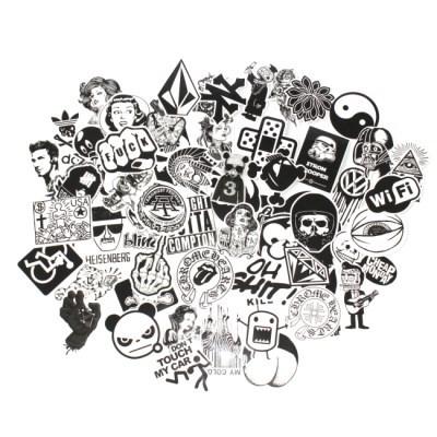 힙한 블랙 스티커 60장 모음(캐리어 노트북 스티커)