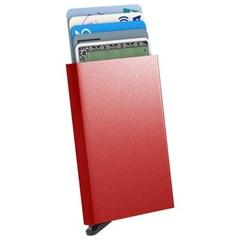 스킨즈 메탈 슬라이드 신용카드 홀더 케이스 (레드)_(901127740)