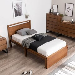 잉글랜더 아스톤 천연무늬목 침대(JJ 7존 독립매트-SS)