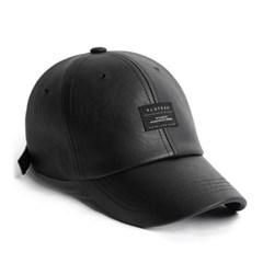 19F LEATHER BK BASIC CAP_BLACK