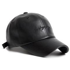 19F LEATHER HIGHLAND CAP_BLACK