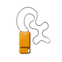 FENNEC LEATHER iPHONE X/XS STRAP POCKET CASE - MANDARIN
