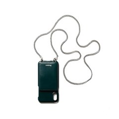 FENNEC LEATHER iPHONE X/XS STRAP POCKET CASE - MOSS GREEN