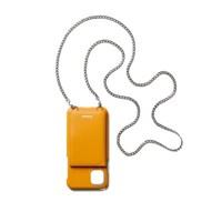 FENNEC LEATHER iPHONE 11 STRAP POCKET CASE - MANDARIN