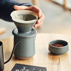 킵 네이처 도자기 커피 드리퍼 핸드드립세트 CM-D02 350ml