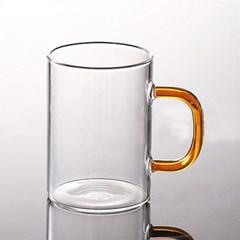 로하티 유리 머그잔(300ml)(오렌지) / 내열유리컵