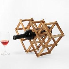 트로우 폴딩 와인렉(5구) / 원목 와인거치대