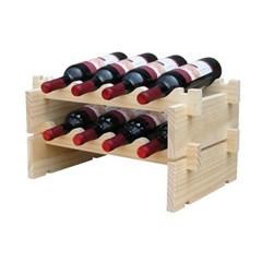 원목 조립식 와인렉(4열2단) / 와인거치대