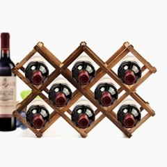 월넛 원목 와인렉 8구/접이식 와인거치대 와인홀더