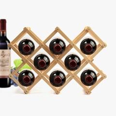 내츄럴 원목 와인렉 8구/접이식 와인거치대 와인홀더