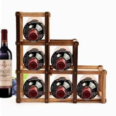 월넛 원목 와인렉 6구/접이식 와인거치대 와인홀더