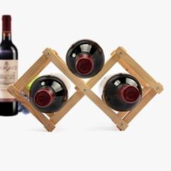 내츄럴 원목 와인렉 2구/접이식 와인거치대 와인홀더