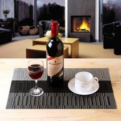 4P 시크블랙 테이블 매트/카페용 식탁매트 방수매트