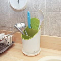 싱크대수저통 주방다용도꽂이 설거지건조통 식기꽂이