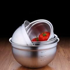 [쿠킹스]스텐 믹싱볼(17.5cm)/샐러드 계량볼 스텐볼