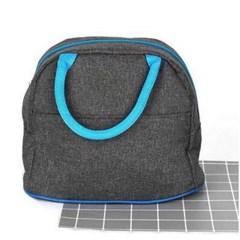 시원한 피크닉 블루 라운드 런치 쿨러백CH1538071