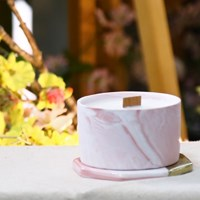마블 핑크 캔들 100g(소)