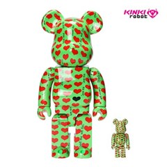 [KINKI ROBOT]400%+100%BEARBRICK GREEN HEART (2001003)