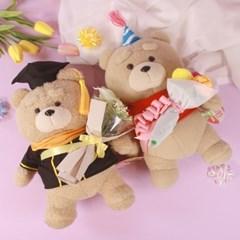 테드 곰 인형 꽃다발 2종 [19곰테드 졸업 졸업식 생일 여자친구]