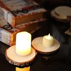 리얼한 LED양초 S/M 1P 티라이트 캔들 전자초 꺼지지않는 led촛불