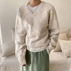 포근 나그랑 브이넥니트 - knit(2609321)_(1545023)