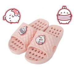 몰랑이 아동 욕실화 EVA 핑크 어린이 욕실 슬리퍼