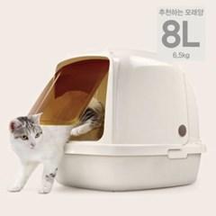 캣아이디어 캣이어 대용량 고양이 지붕화장실 L
