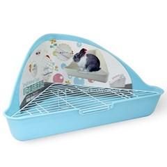 NEW AGE 삼각코너형 토끼 화장실 블루 (NA-021)_(1030279)