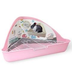 NEW AGE 삼각코너형 토끼 화장실 핑크 (NA-022)_(1030278)
