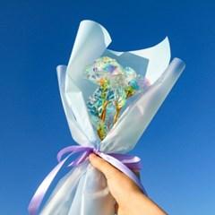 [SUNSET FLAMINGO] 홀로그램 꽃다발 장미 3구