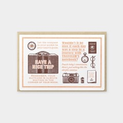 [Travel Tools Collection] Letterpress Card 브라운