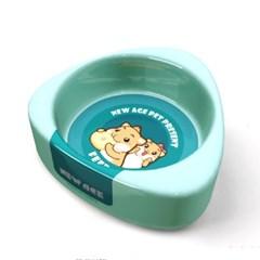 NEW AGE 햄스터 토끼 삼각 먹이그릇 소 블루 (NA-082)_(1030273)