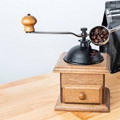 [칼딘] 원목 커피그라인더 원두그라인더 서랍형 CM-A2+청소솔 증정