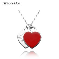 티파니앤코 TIFFANY&CO 61941835 더블 하트 목걸이 스몰_(1293912)