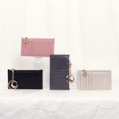 D.LAB [탄생석키링 증정] Elly zipper wallet - 4color