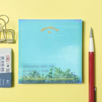 Television Memo Pad_Lucky