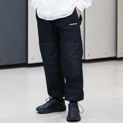 매스노운 SL 로고 섹션 패딩 조거 팬츠 MFNCP005-BK