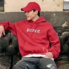 Peace Printing Hoodie_Red