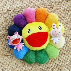 카이카이키키- 플로워 쿠션 (Rainbow)