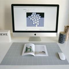 Simple Line Desk Mat [Grey]