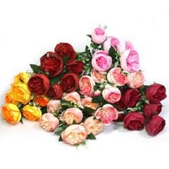 3+2행사 줄리엣장미 부쉬 고급조화 산소꽃 성묘꽃 납골당꽃