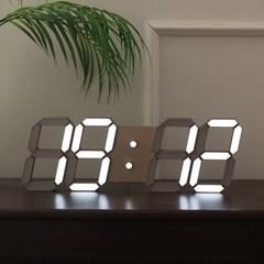 LED 3D 벽시계 골드