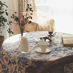 레트로가든 블루 테이블보 식탁보