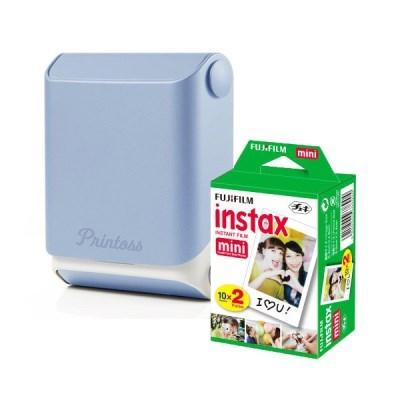 토미 스마트폰 휴대용 포토 프린터 프린토스 + 전용 인화지 20매
